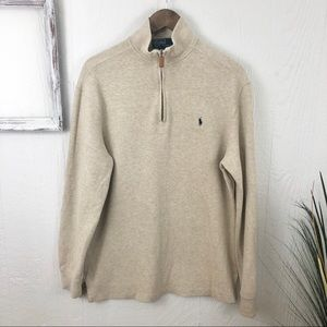 Polo Ralph Lauren Mens Quarter Zip Pullover